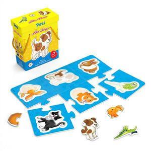 پازل حیوانات خانگی جعبه ای (ک12)